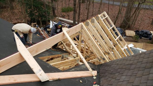 Reston, VA - Orion installed additional construction roof, and replaced existing skylights with new curb mount skylight for a home in Reston.