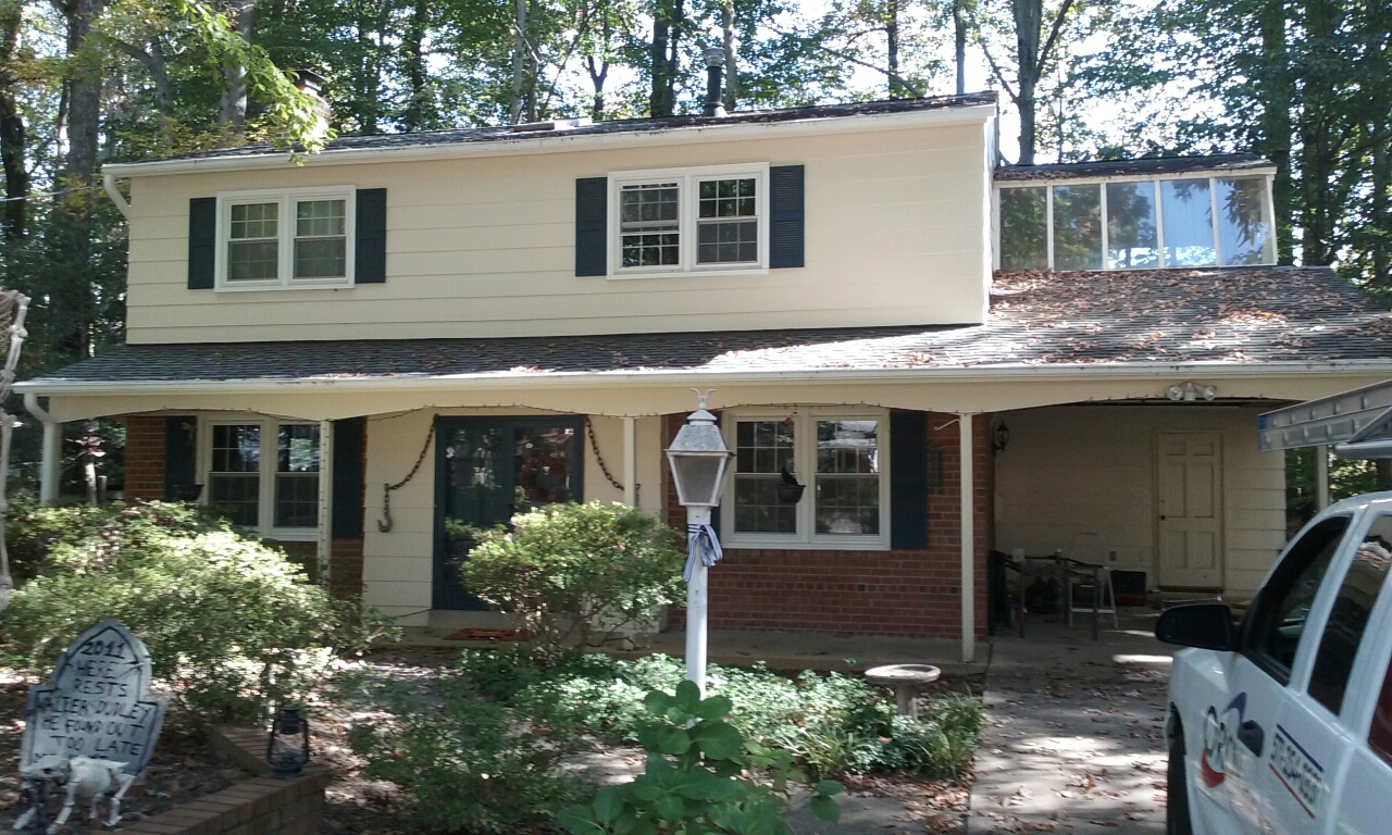 Annandale, VA - Measurement for replacement roof in Annandale.