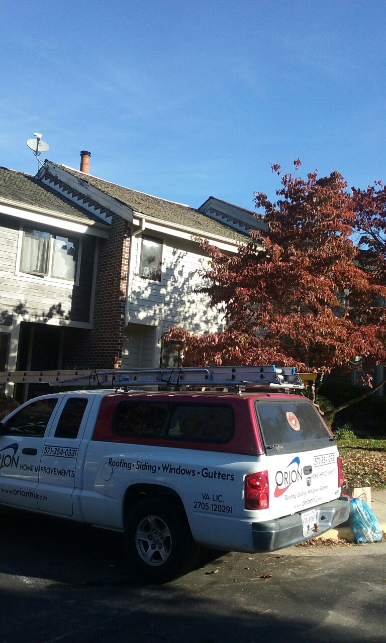 Reston, VA - Cedar shake roof replacement on Reston townhouse.