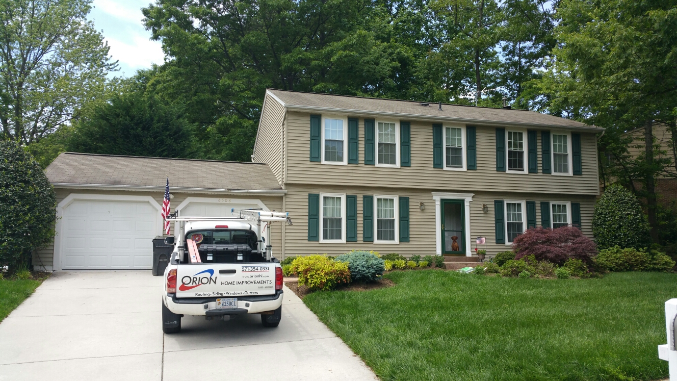 Burke, VA - Full gutter and downspout replacement.  Installation of gutter screens as well. Gutter guards are guaranteed clog prevention for life