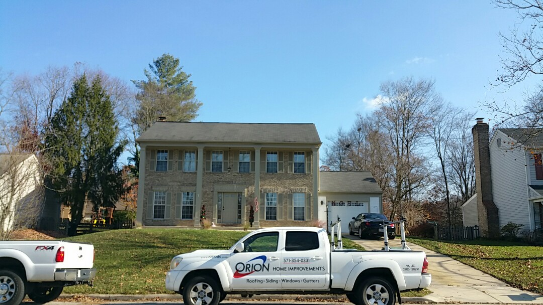 Woodbridge, VA - Orion getting ready for complete roof installation hail damaged roof gutters siding