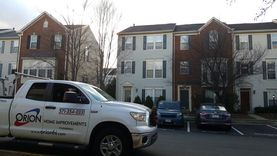 Herndon, VA - Full roof replacement with repair around the chimney bump out.  Will assist homeowner in researching home owners association approval for lifetime warranted shingles.  3 story townhome in Herndon