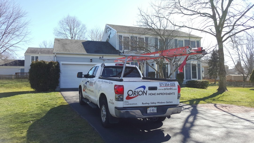Fairfax, VA - Siding repair and siding replacement in Fairfax VA.  Right beside chantilly VA. Wind blew off siding, so I will assist the homeowner in filing an insurance claim to replace the roof and siding.  Gutters also have damage.  Will replace all gutters and downspouts.  Too much damage for a simple roof repair or siding repair or gutter repair.