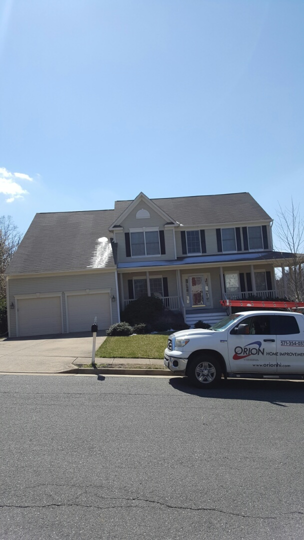 Fairfax Station, VA - Gutter repair and replacement due to ice damage.  Trim replacement.  Wood trim to PVC trim.  Roof replacement as well.