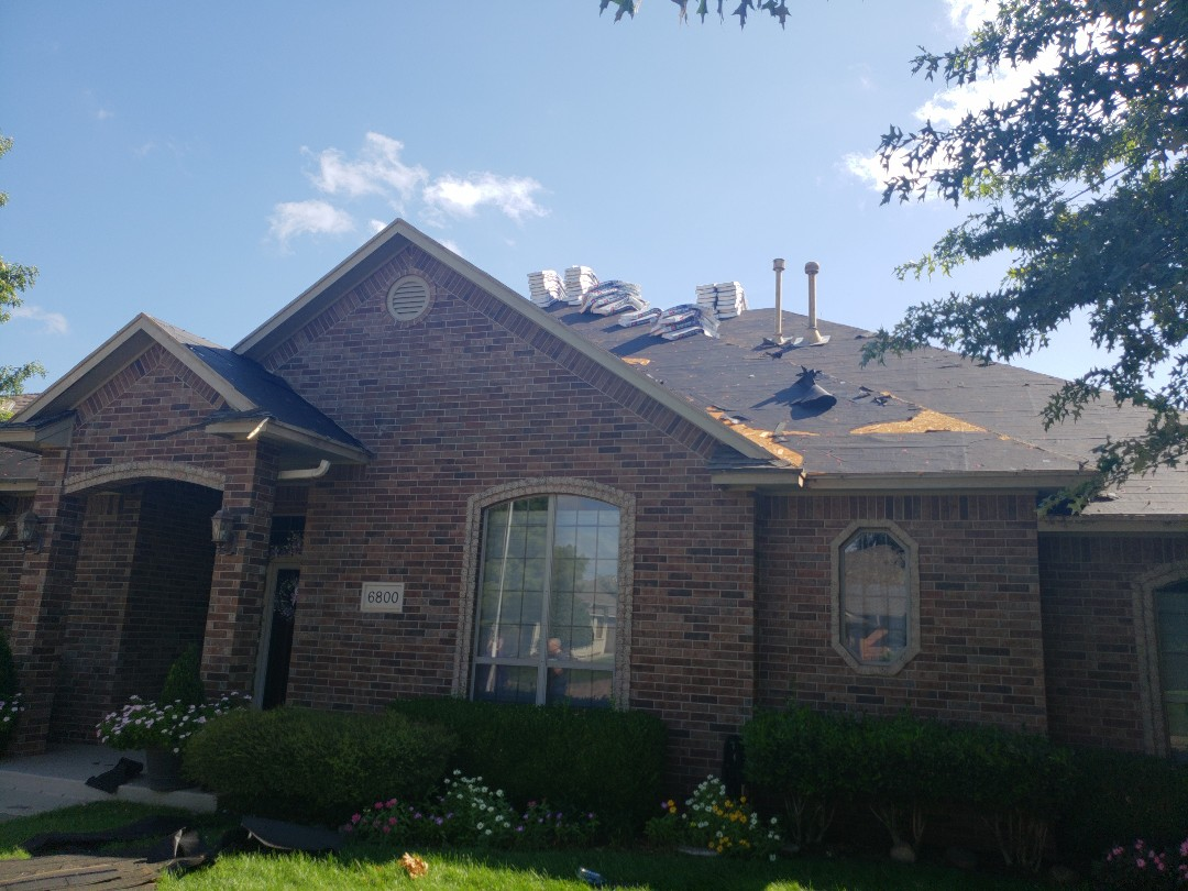 Oklahoma City, OK - Roof was damaged from a hail storm that came through in the spring. We are going back with a GAF Timberline HD architectural shingle.