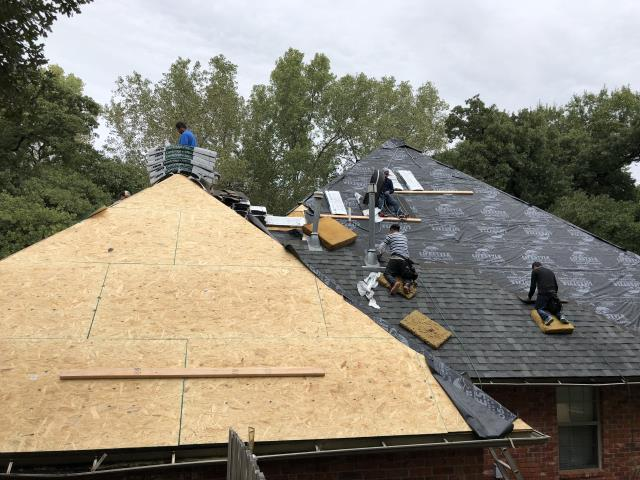 Edmond, OK - Lifestyle Home Improvement is Re-Decking and           Re-Roofing this home in Edmond, OK due to hail damage. We are installing GAF Armor Shield II Impact Resistant shingles. These shingles will protect this house from future storms.
