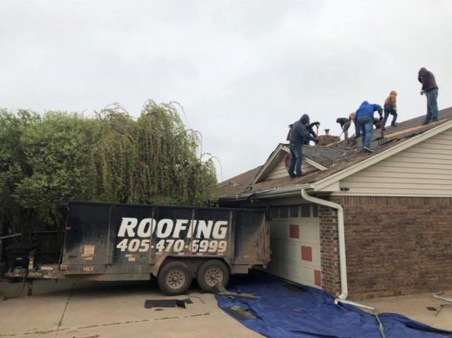 Edmond, OK - Roofing in Edmond on a house with Hail damage approved by the insurance for a full replacement. We are using GAF Lifetime shingles with our systems plus warranty to back up our customers with a strong warranty. Materials and Labor for the life of the roof.