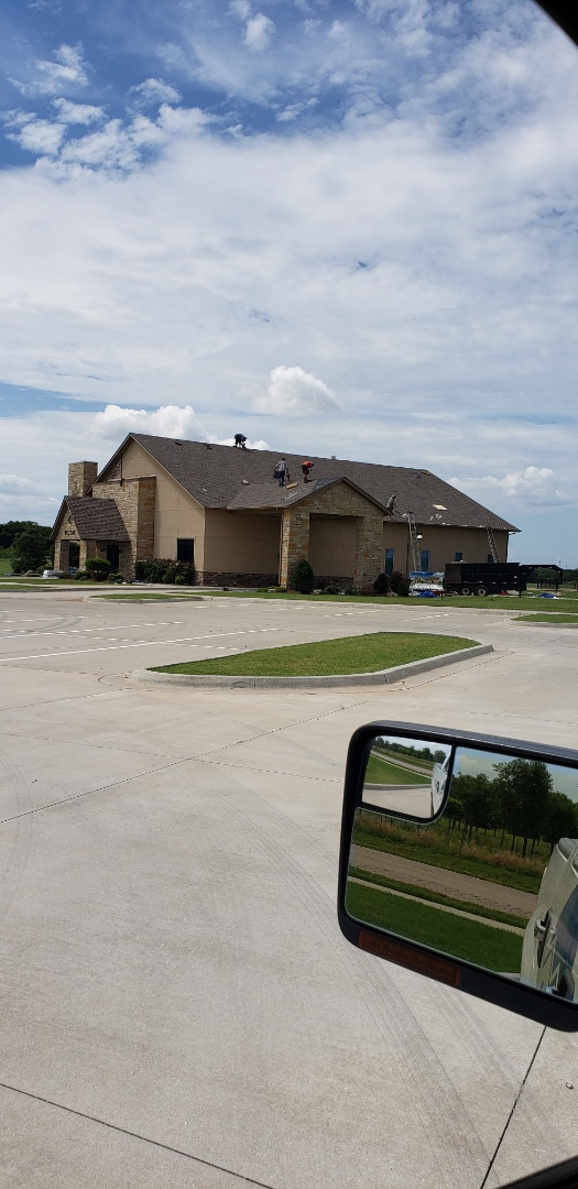 Oklahoma City, OK - If you are in need of roof replacement or repair give us a call today. Finishing up the install with a GAF armorshield II . This beautiful weatherwood colored shingle looks great !  Call today 405-990-9354