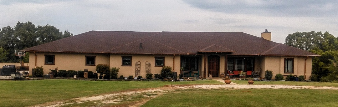 Pawnee, OK - We were able to help this family get a new roof through there insurance due to the hail storm in April. We offer free roof inspections. Give us a call so we can help you.