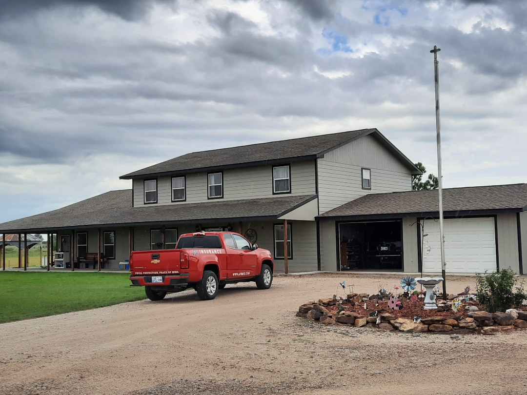 Pawnee, OK - This ranch house just got approved by insurance  for a new roof due to hail damage.