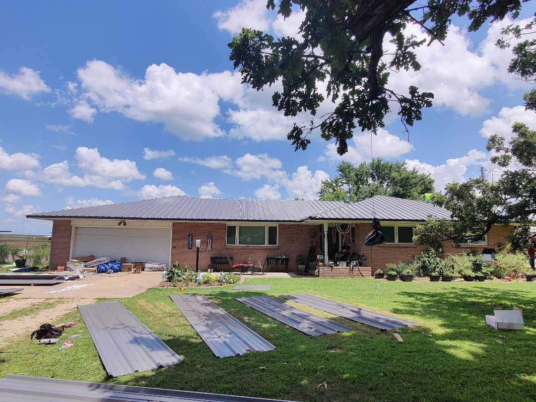 Perry, OK - 26g charcoal gray metal roof!!