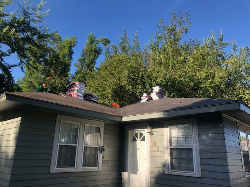 Stillwater, OK - Roofing this one in Stillwater today with GAF 30 year arc shingle. It was covered by insurance due to hail storms.