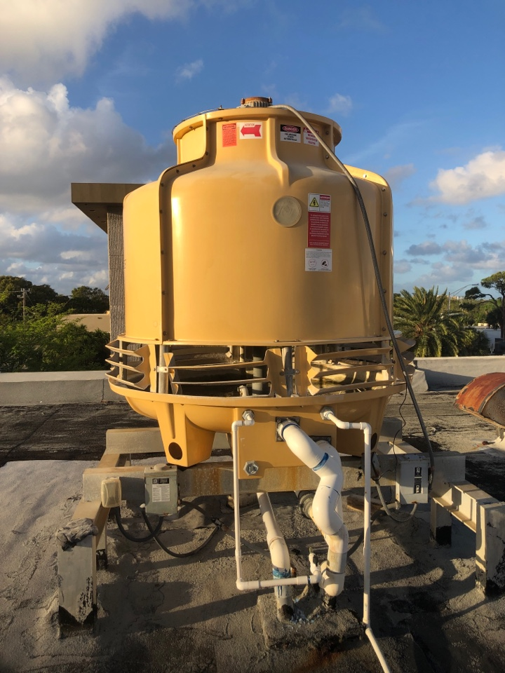 Repairing another commercial water tower in Pompano Beach Florida