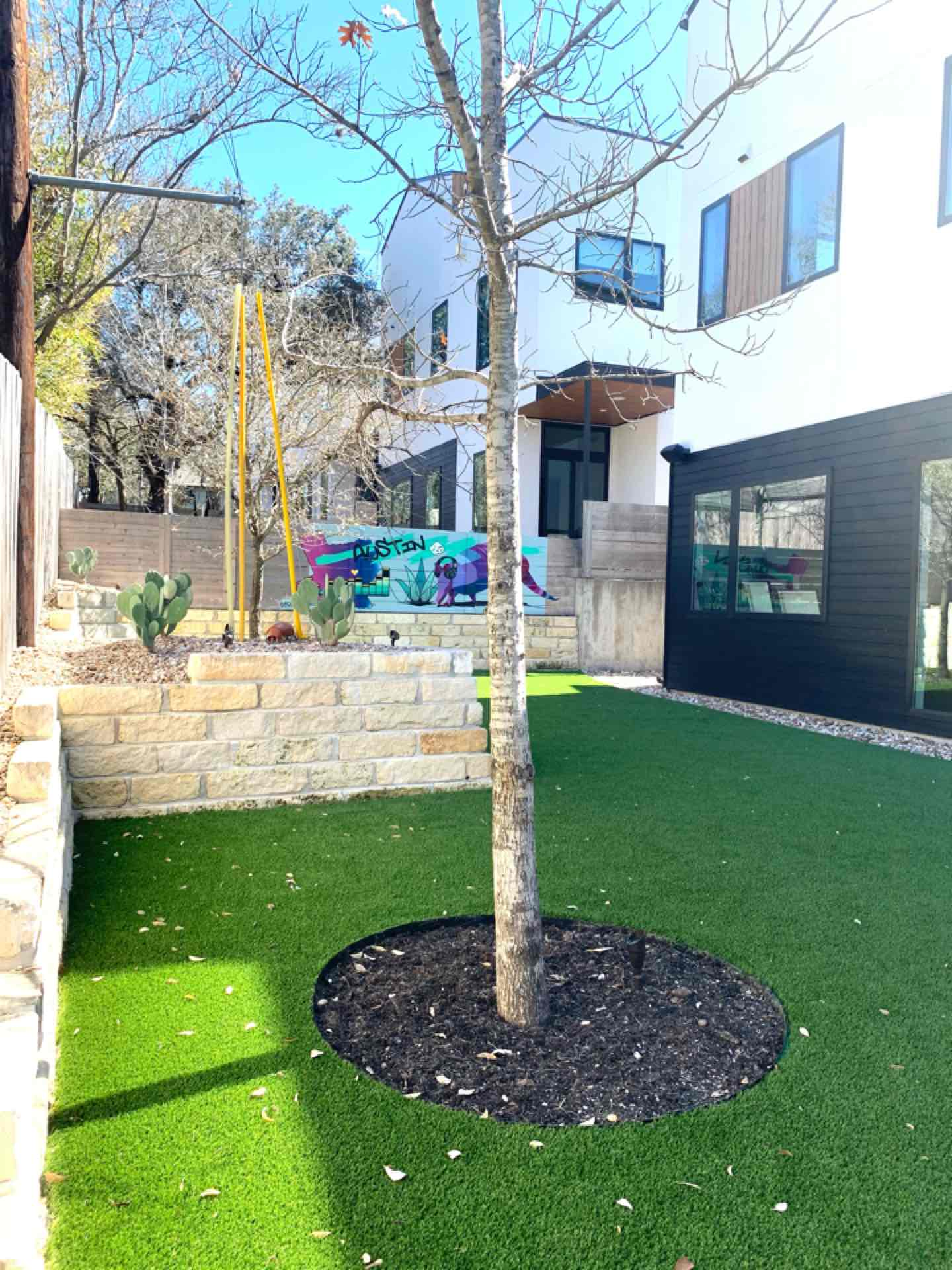 Austin, TX - Another Austin homeowner made the transition to LawnPop synthetic turf, and the results are amazing! Now there's a wonderful backyard social area that's great for entertaining guests, and amazing for pets! Our synthetic turf is eco friendly and helps homeowners save tons by reducing their water bill!
