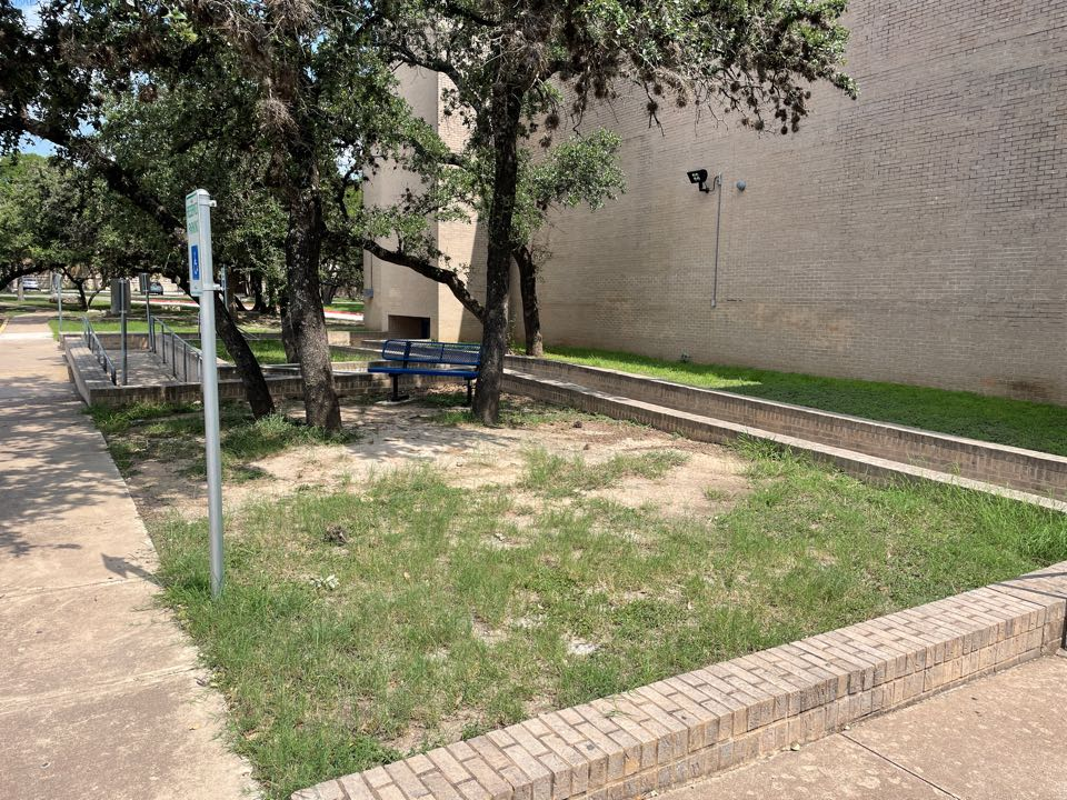 Austin, TX - This Austin AISD high school will be using LawnPop Artificial Grass to save water and resources. This LawnPop synthetic turf solution will help the City Of Austin save money and utility bills. The community will have a space for the handicap to access and hang out during school.