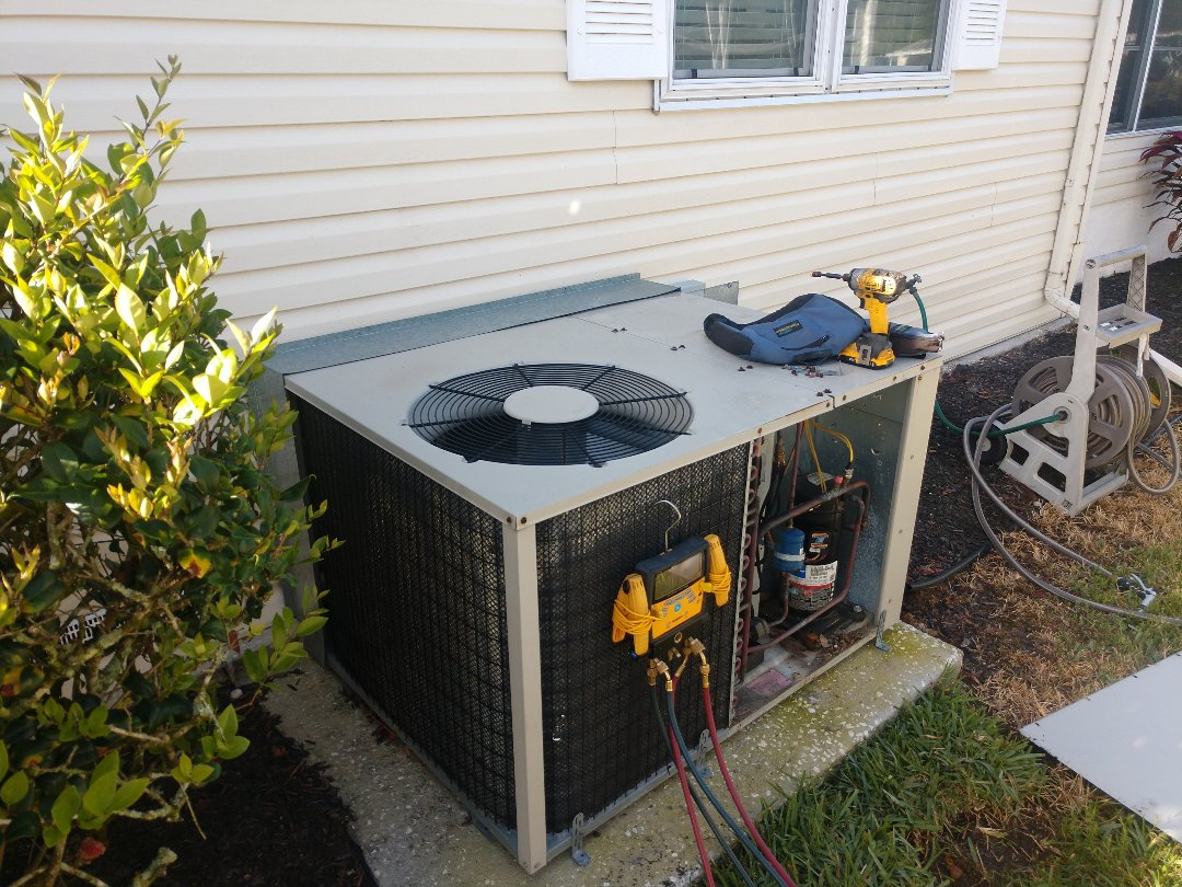 Lakeland, FL - Air conditioning maintenance at Cypress Lakes in Lakeland.
