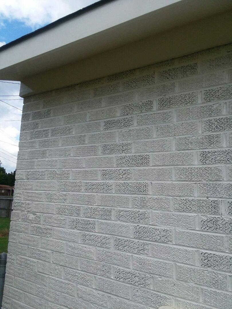 Prattville, AL - Painting brick exterior. Prattville, AL