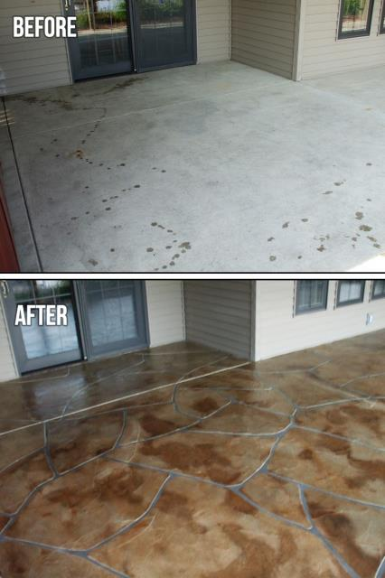 Salt Lake City, UT - We had a great experience working with Concrete Transformation last Summer!! They did a fantastic job renovating our patio surface with a Flagstone design! The finished look is elegant, beautiful, and offered at a fair price! We thought we would have to pay an arm and a leg for a look like this!! Thank you so much, Concrete Transformation, for a job well done! Great services and highly recommended!!!