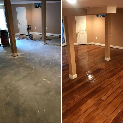 Sandy, UT - This transformation leaves me in awe!! We had Concrete Transformation come out to revamp our master bedroom floor. They blew our expectations away!! This floor is beyond beautiful and made out of concrete!! I would recommend Bret and his crew over and over again to all my friends and family!!