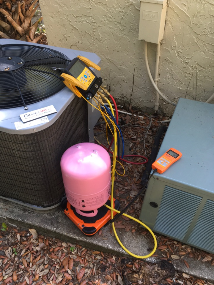 Longwood, FL - Recharged  Grandaire 410A system for a family in Longwood neighborhood