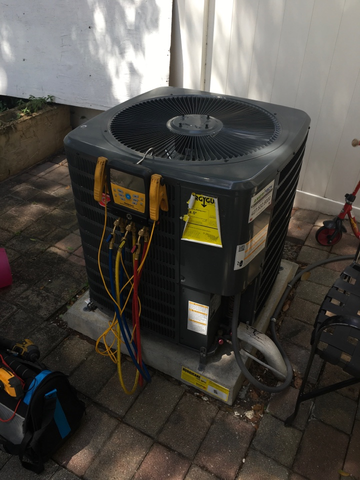 Casselberry, FL - AC Maintenance Casselberry FL - Performed maintenance on a Goodman ac system for a family in Casselberry neighborhood