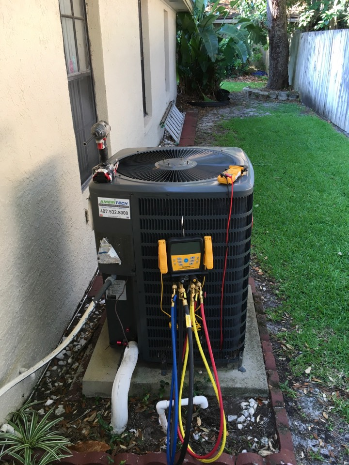 Apopka, FL - AC Tune Up Apopka - Taking care of one of our own today.  We installed it, now we maintain it.