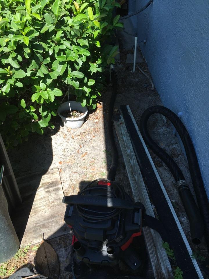 Oviedo, FL - AC Service Oviedo, FL - Cleaning drain line in Oviedo