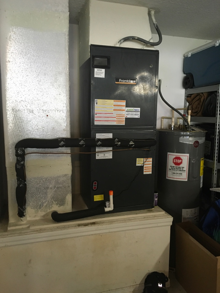 Kissimmee, FL - AC Repair Repairing a Franklin system for a family at in Kissimmee.