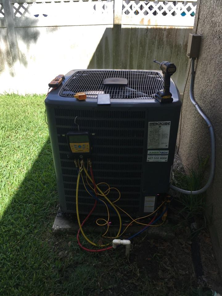 Oviedo, FL - AC Maintenance Oviedo - Performed maintenance on a Goodman ac system for a family in Oviedo neighborhood