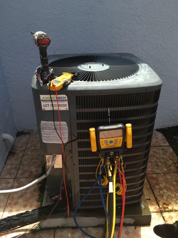 Orlando, FL - AC Maintenance Orlando - Performing AC diagnostic in Orlando