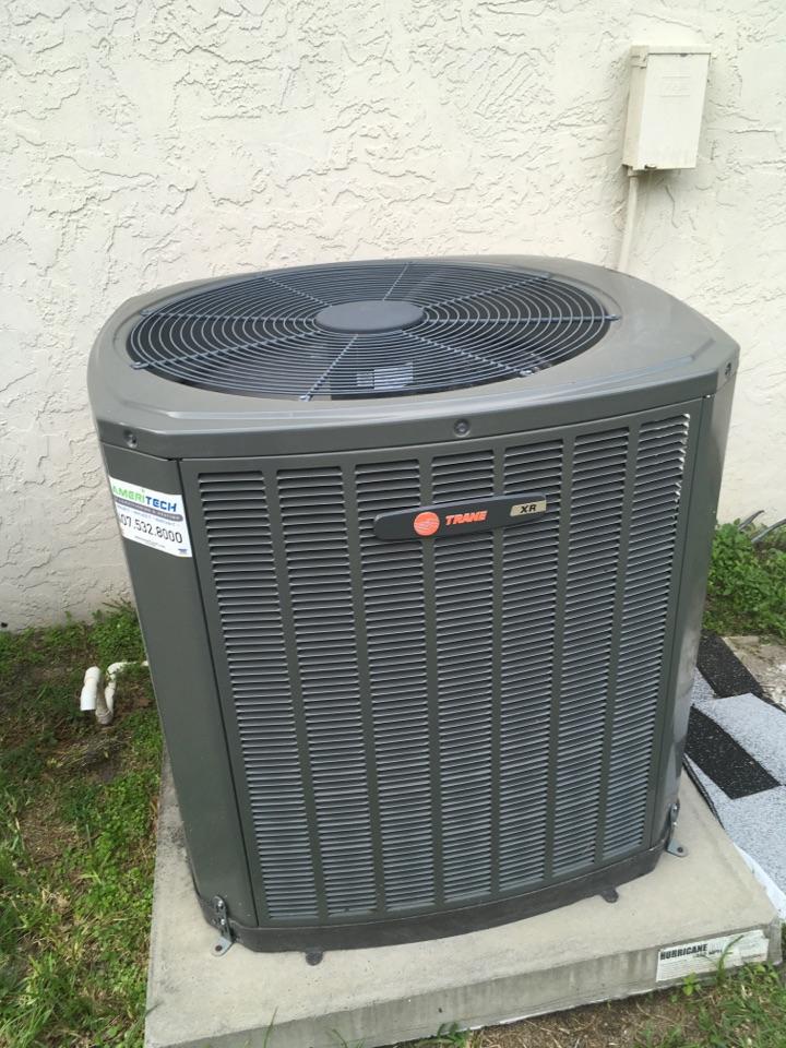 Orlando, FL - AC Repair Orlando - Replaced condenser capacitor on Trane ac system for a family in Orlando neighborhood