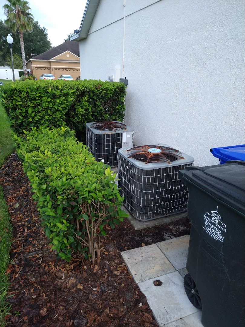 Winter Garden, FL - New AC Installation Replacement for two 3 ton Heat Pumps.
