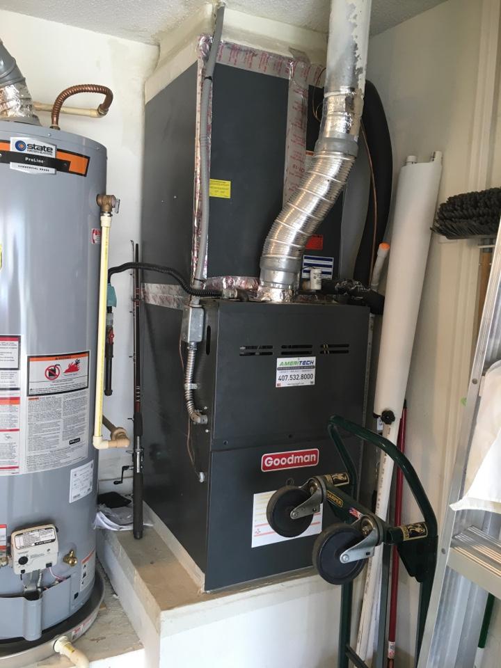 Davenport, FL - AC Repair Davenport - Repaired a Goodman furnace for a family in Davenport, FL.