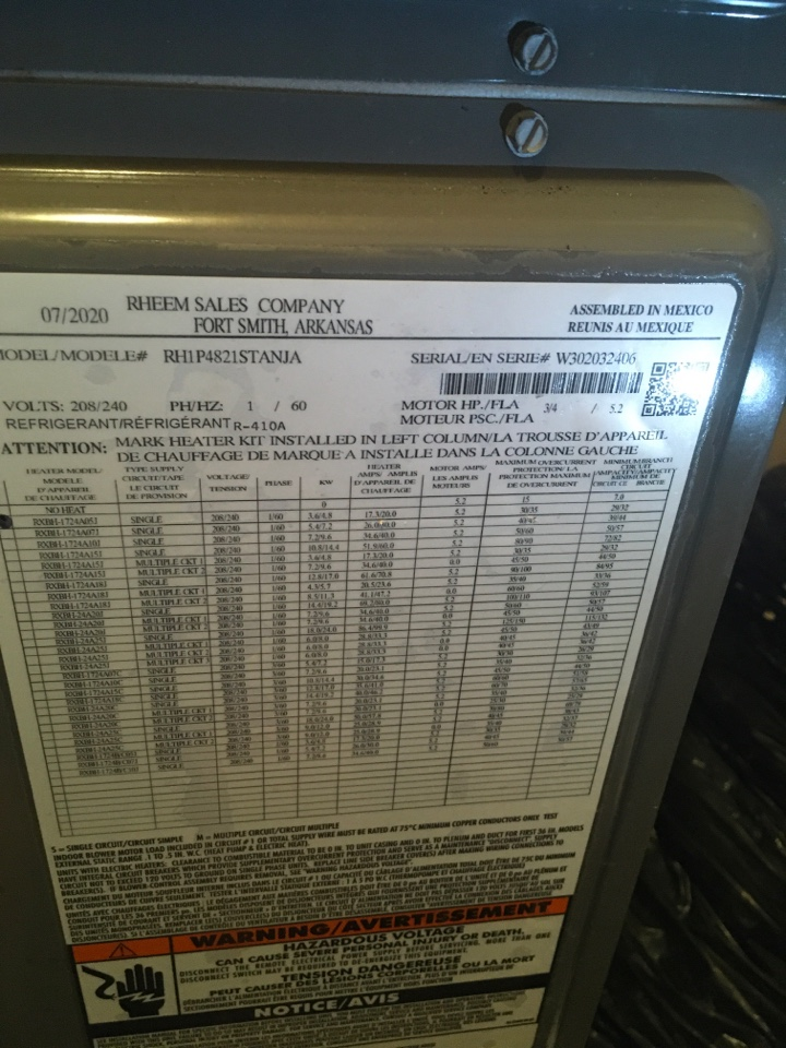 Orlando, FL - Maintenance on a Rheem system for a family at lake melrose dr