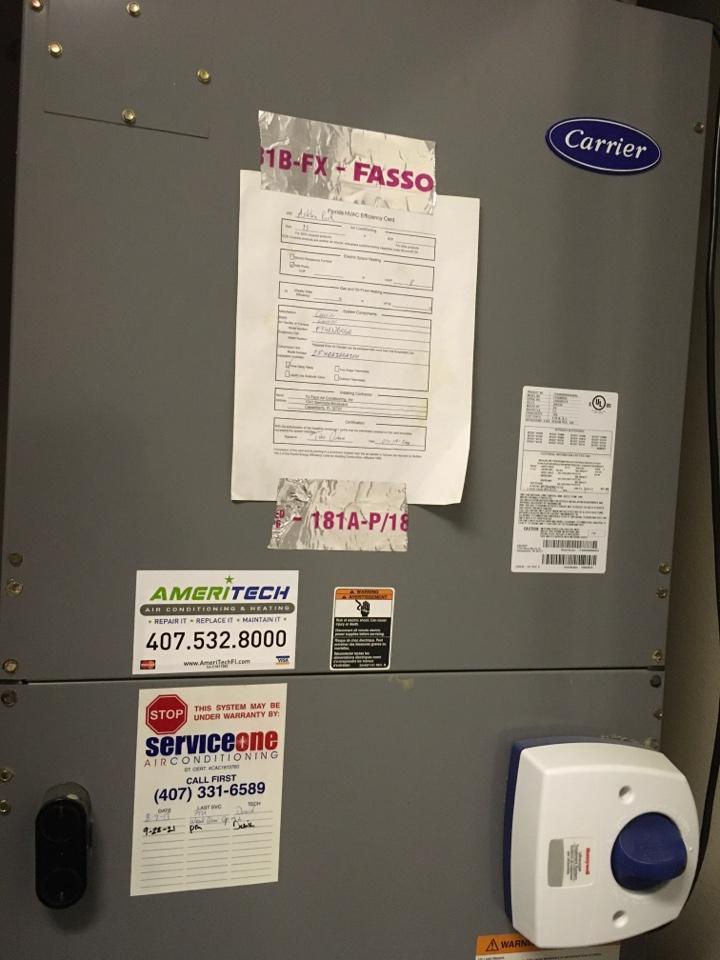 Ocoee, FL - Performing maintenance for a customer.