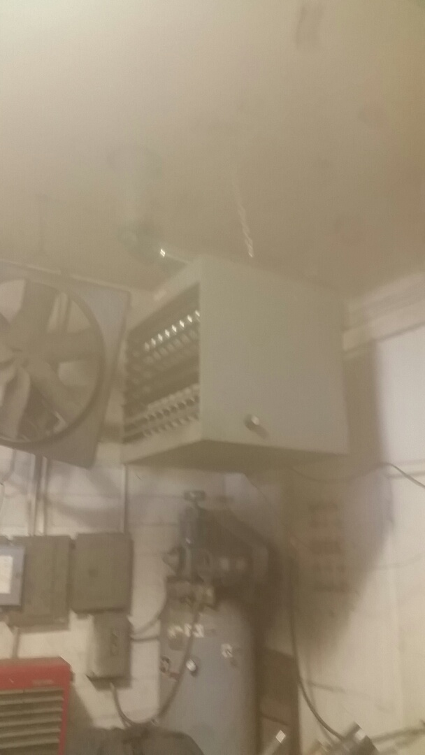 Dalhart, TX - Working on a Dayton Shop Heater
