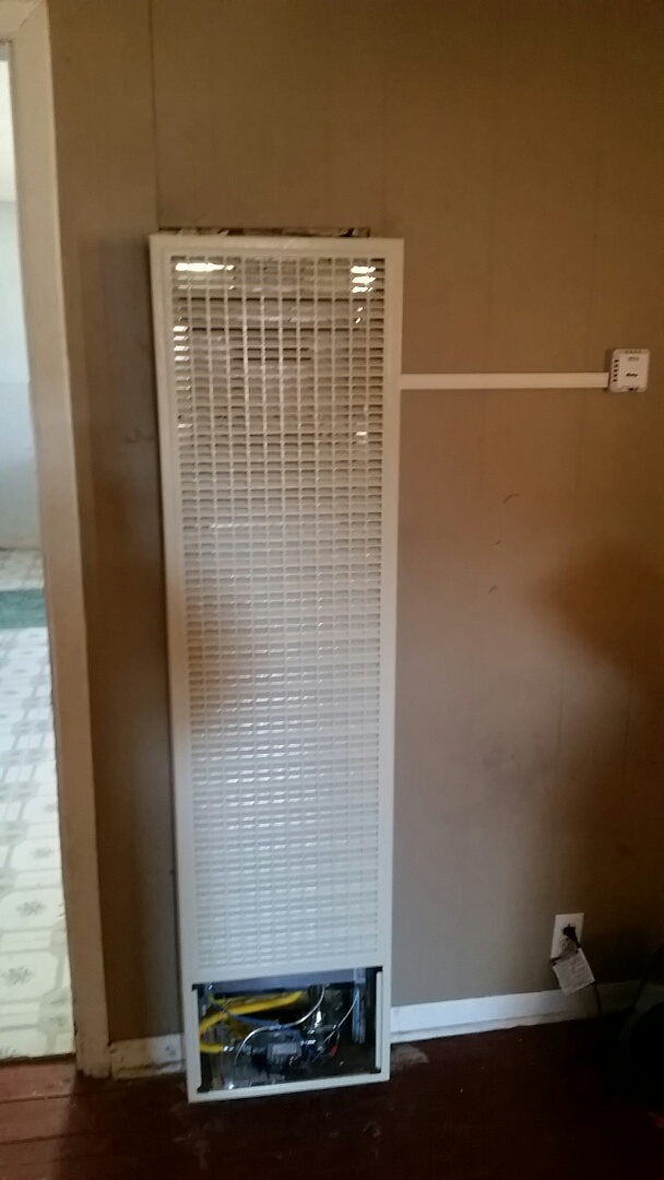 Stratford, TX - Replacement of cozy wall furnace