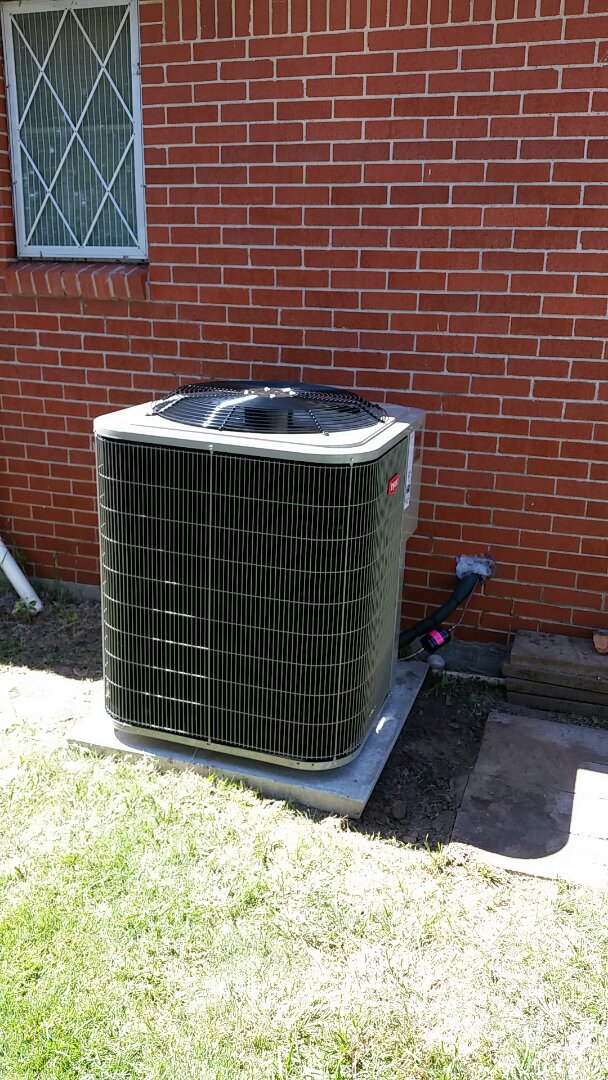 Gruver, TX - Installed a Bryant condenser and evaporator coil