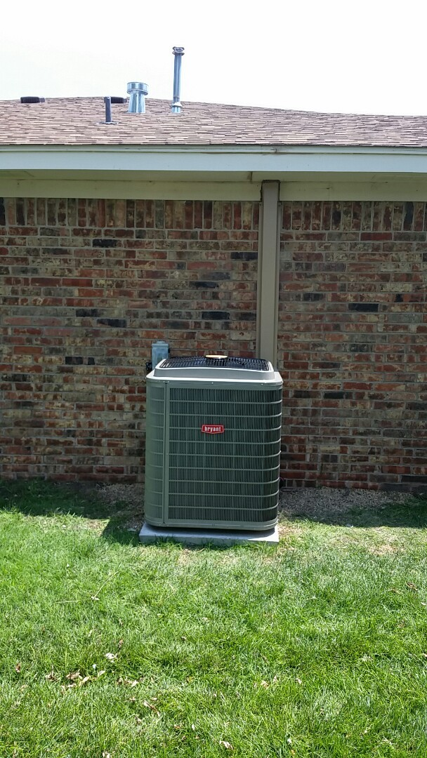 Dumas, TX - Installed a Bryant heating and cooling system