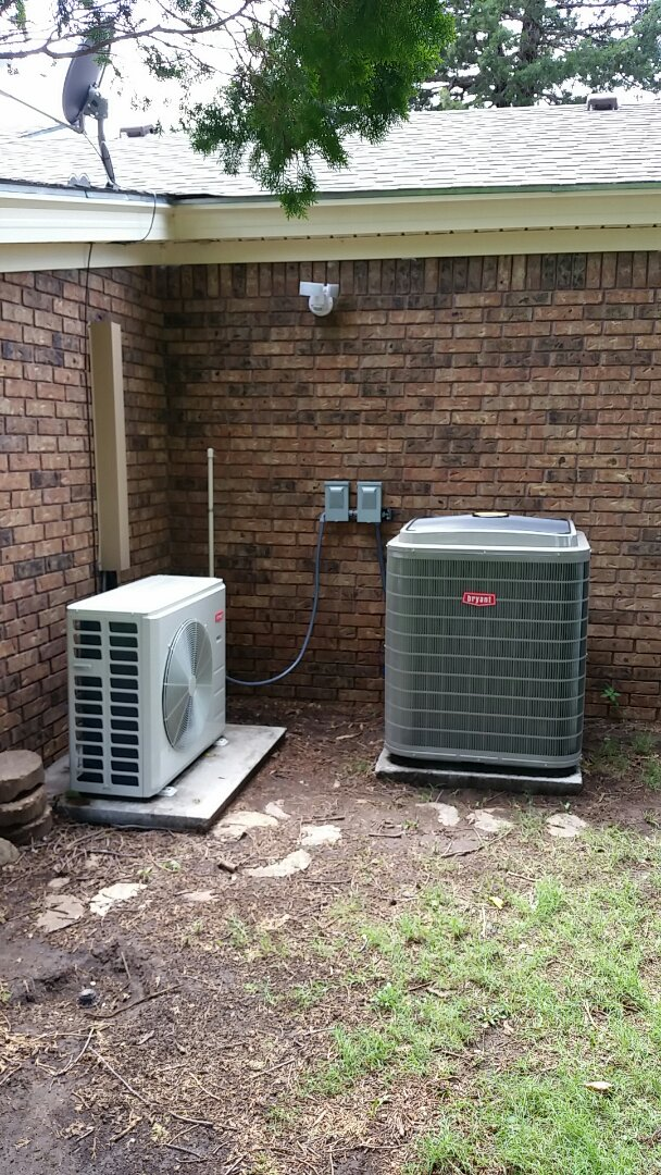 Dumas, TX - Installed a Bryant mini split system and heating and air system