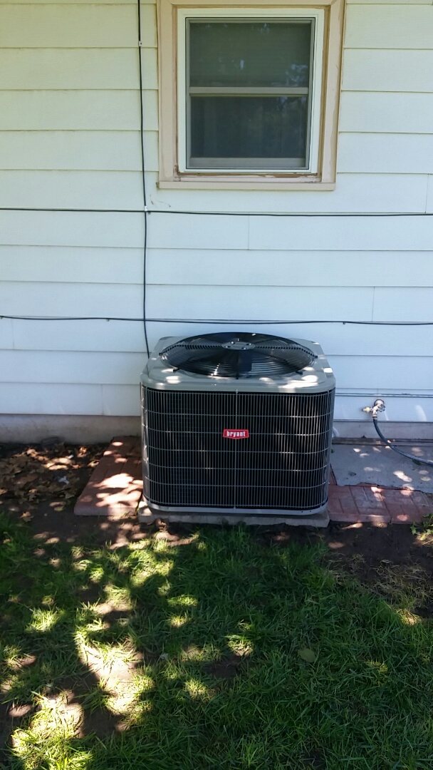 Dumas, TX - Installed a Bryant 3 ton heating and cooling system