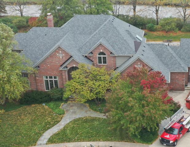 Full roof replacement. CertainTeed Landmark. Color: Georgetown Gray.