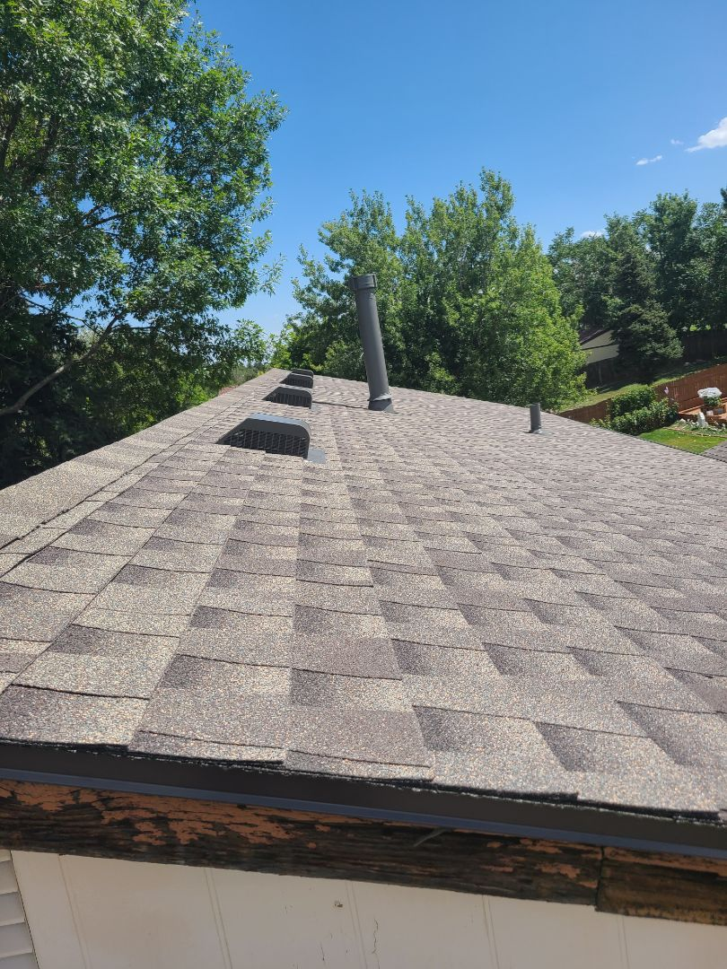Golden, CO - Finished roof! Now hanging gutters!