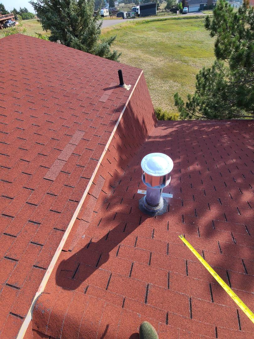 Indian Hills, CO - Starting g a reproof with gutters in evergreen.