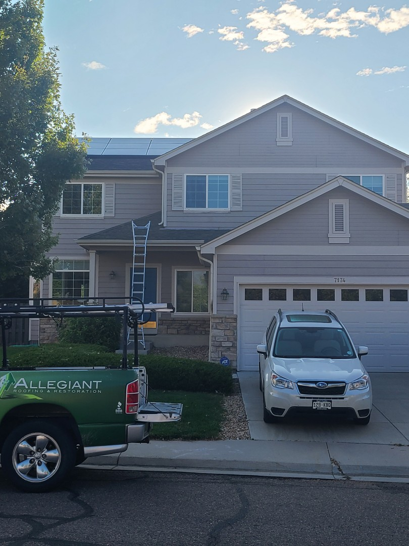 Arvada, CO - Adjuster meeting approved for solar, roof and gutters.