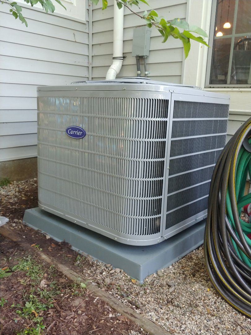 Commerce Charter Township, MI - Installed new Carrier AC in Commerce MI