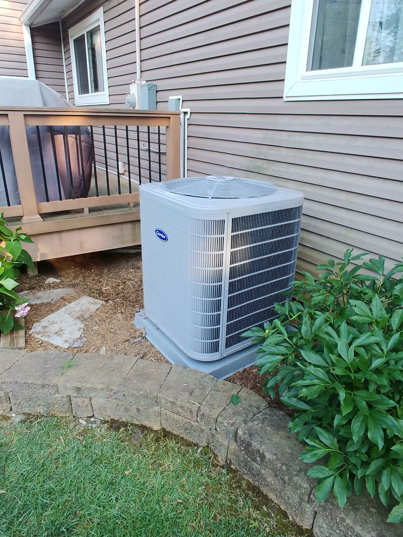 Commerce Charter Township, MI - Installed replacement AC in Commerce, MI