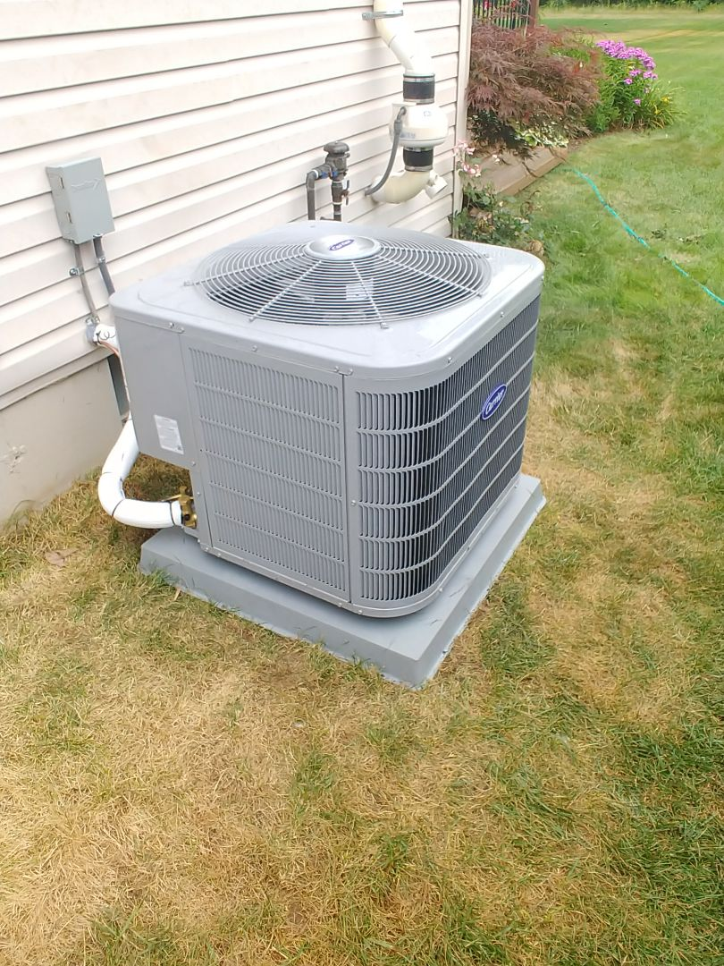 White Lake charter Township, MI - Installed replacement Carrier AC in White Lake MI