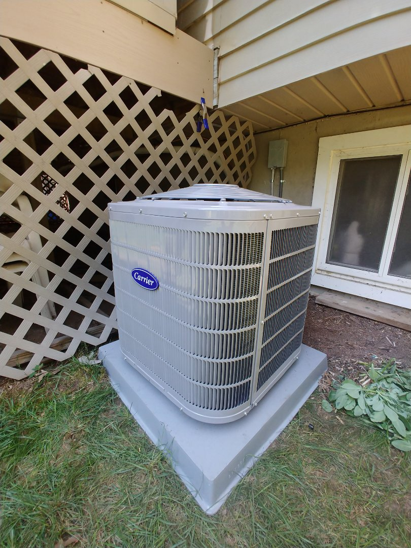 Commerce Charter Township, MI - Installed replacement Carrier AC in Commerce, MI