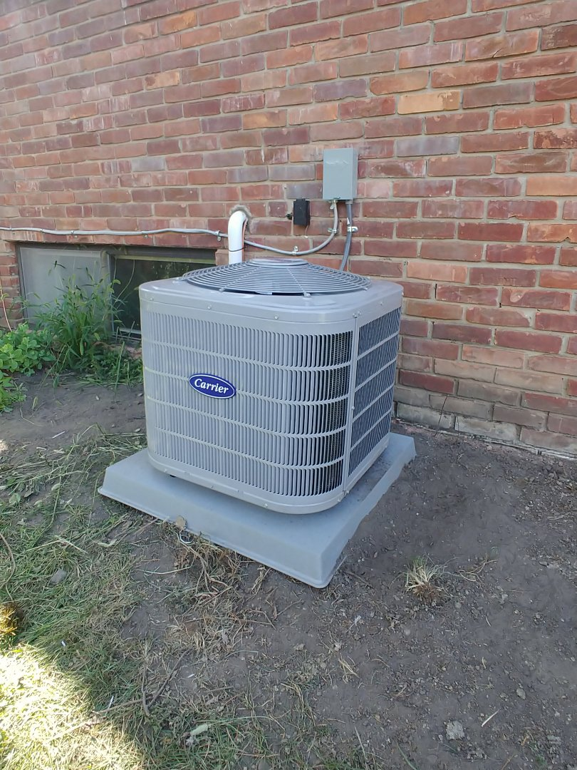 Milford Charter Township, MI - Installed new Carrier AC in Milford, MI